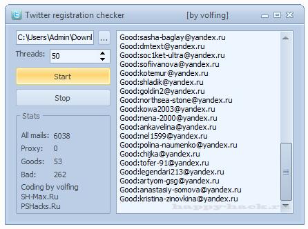 Twitter registration checker