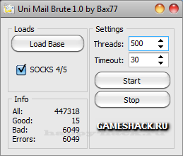 Uni Mail Brute v1.0. by Bax77