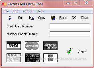Credit Card Check Tool